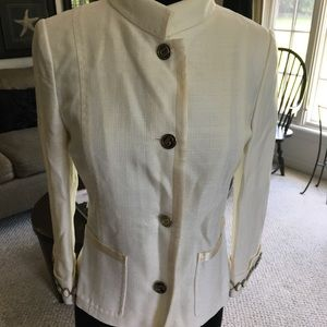 Dolce and Gabana off white beaded cuff jacket